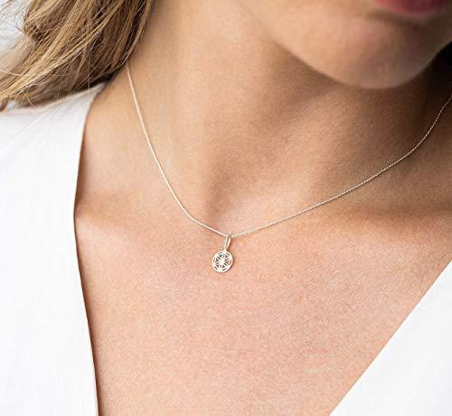 Halskette kleine Blume des Lebens 925 Geschenk