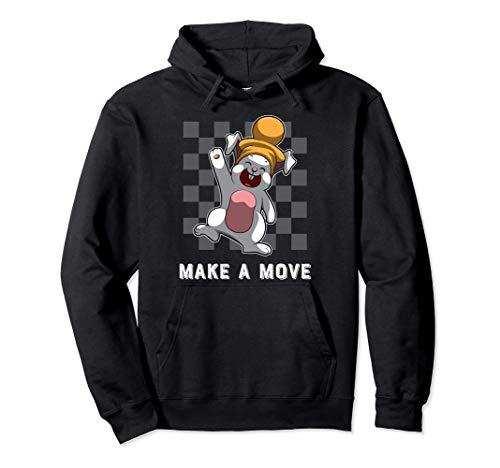 バニーポーンピースとチェス盤パターン - チェス パーカー