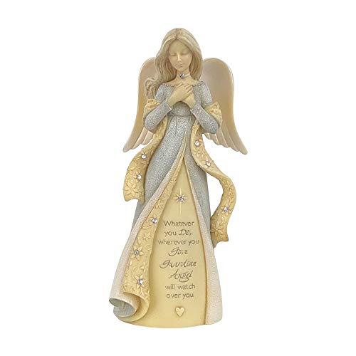 Enesco Estatueta Anjo Guardião da Fundações, 12 cm, multicolorido