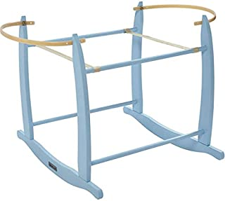 Clair de Lune Deluxe Rocking Moses Basket Stand - Blue