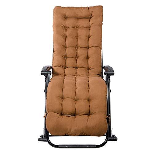 YVX Outdoor Garden Chair Outdoor Rocking Chair Reclining Tilting Adjustable Chair Headrest Beach Bed Camping Pool Deck - Brown