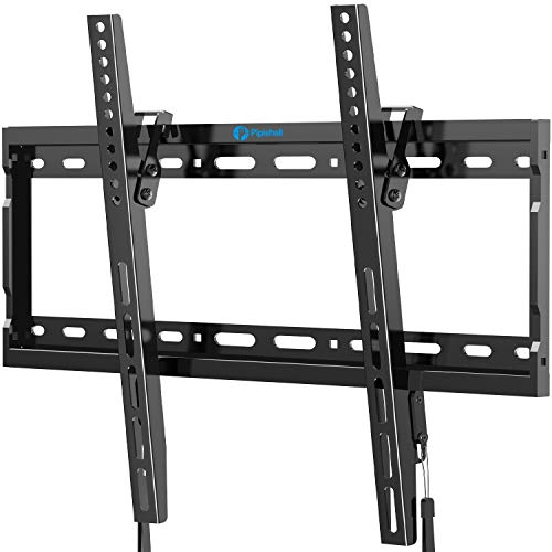Tilt TV Wall Mount Bracket for Most 26-55 Inch LED LCD OLED Plasma Flat Curved Screen TVs with Max VESA 400x400mm, Low Profile and 8 Degrees Tilting, Supports up to 99lbs by Pipishell