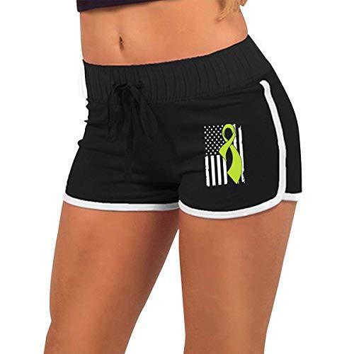 Longing-Summer Alluringy Mini pantalones cortos para mujer, diseño de bandera de Linfoma
