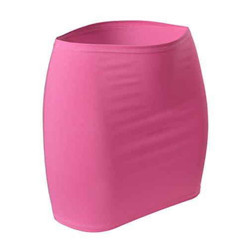 CFLEX Damen Variotube-Nierenwärmer, Shirtverlängerung, Minirock aus Baumwolle - Pink Carnation M-L