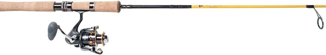 Eagle Claw Powerlight IM-7 5 Weight Fly Rod, 4 Piece (Yellow, 9-Feet)