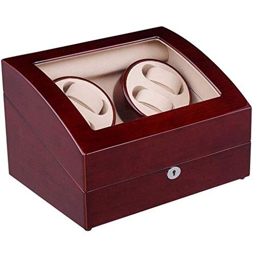 Cubierta de la Caja de Reloj Agitador de Parada automática Caja de bobinado automático Reloj mecánico Caja de Reloj de bobinado de Mesa oscilante