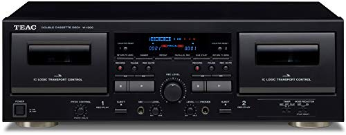 Teac W-1200 Dual Cassette Deck with Recorder/ USB/ Pitch/ Karaoke-Mic-in and Remote