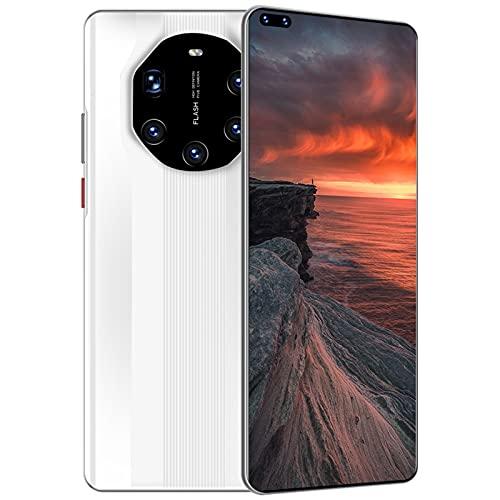 KKAAMYND 6.8 Pulgadas de teléfono móvil 5800mAh 24 + 4 8MP Doble SIMULACIÓN Rostro IDENTIFICACIÓN Teléfono Inteligente (Color : White, Size : 64GB)
