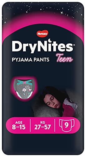 DryNites - Braguitas absorbentes, 8-15 años, pack de 9 unidades