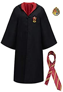Yalla Baby Kids & Adults 2 Piece Set Magic Costume for Kids Boys, Girls & Adult (100-180cm) - Unisex Red and Black Robe Cl...