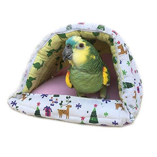 Pet bed Accessories for pet birds Plush Bird nest Bird Hanging House nest Hammock Parrot Finch Bird Hanging Tent Bed Animal nest Dog bed (Color: Mix color, Dimensions: 24 * 21 * 21 cm)