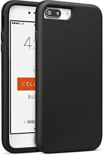 Cell Phone Case for Apple iPhone 8 (Black) - Triple Layer Protection - with a Scratch Resistant Tempered Glass Screen Protector & Cellairis Bundle