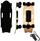 BJCNX Planche à roulettes Électrique, avec Télécommande Longue Planche 7 Couches Érable E-Skateboard Mini Longue Planche à roulettes Cruiser Conçue pour Les Débutants et Les Navetteurs Urbains, A