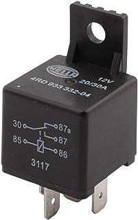 HELLA 4RD 933 332-041 przekaźnik mini, przekaźnik przełączający, 12 V, 5-biegunowy, rezystancja szpuli: 85 omów, uchwyt: tak