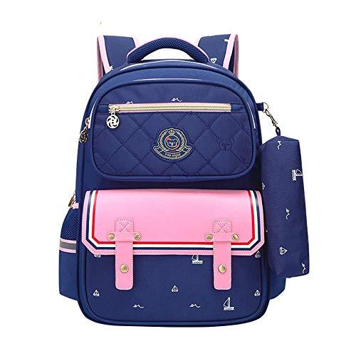 Bolsas escolares para niños, niños, niñas, impermeables y transpirables, mochila, mochila, portátil, de gran capacidad para jóvenes, mochila de ocio al aire libre, para 2-3 - Alumnos de 5º grado YUANQ
