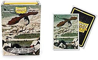 Dragon Shield Classic Art Hunters in The Snow Standard Size 100 ct Card Sleeves Individual Pack