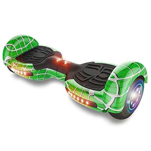 """TPS Power Sports Hoverboard Self Balancing Scooter for Adults and Kids 300W Dual Motor 6.5"""" Wheels Bluetooth Speaker LED Lights Self Balance Hoverboards Great Gift UL2272 Certified (Green)"""