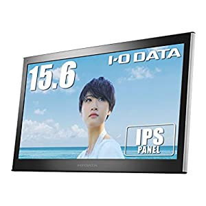 "I-O DATA モバイルモニター 15.6型 テレワーク向け 薄型 IPSパネル mini HDMI USB-C給電 ケース付 3年保証 ..."""