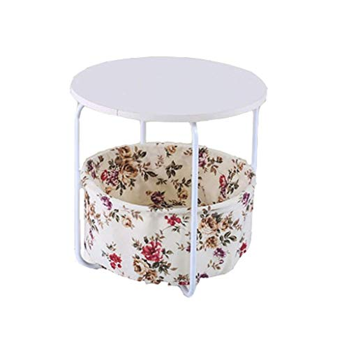 WYZQ Pequeña Mesa de Centro Simple Mini Sala de Estar pequeña sofá gabinetes de Esquina Laterales Cama Moderna Mesa Redonda pequeño Volumen (tamaño: A), Posavasos Taza