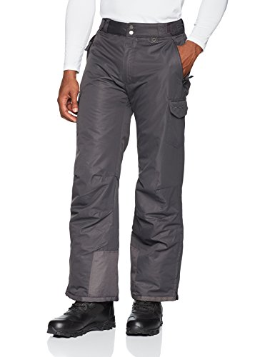 SkiGear Men's Snow Sports Cargo Pants, Charcoal, XX-Large (44-46W 32L)