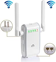 WiFi Range Extender Repeater Wireless Network Signal Booster High-Speed 300Mbps 2.4GHz Wi-Fi Long Amplifier with External Antennas, for Home Office Repeater/Access Point/Router Mode