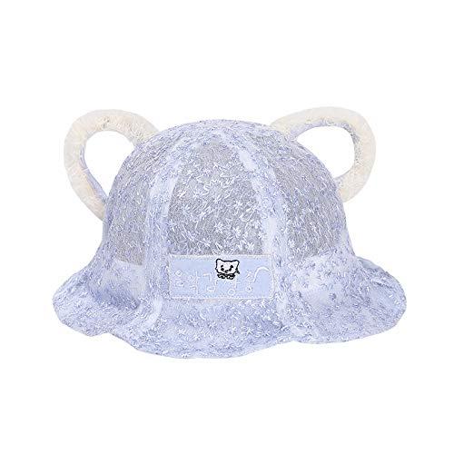 wopiaol Chapeau pour Enfants été Nouveau Style Fil Net Oreilles de Chaton Mignon bébé Chapeau de Soleil crème Solaire coréenne bébé Chapeau de pêcheur