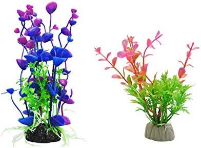 WishLotus Artificial Aquatic Plants 4pcs Beautiful Aquarium Plants Multicolor Plants is Suitable product image
