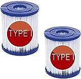 KTMAID I Cartucho de filtro para piscina, filtro para piscina Bestway 58381 tipo I bomba de filtro de repuesto cartucho de filtro de alta eficiencia (2 unidades)