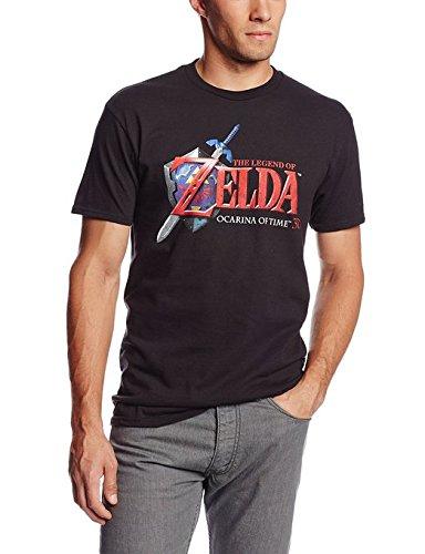Nintendo Men's Hey Ocarina T-Shirt, Black, X-Large