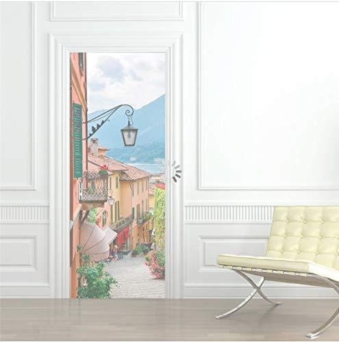 Adesivo da porta per frigorifero autoadesivo in PVC per città Adesivo da parete per rivestimento per porta da parati ricondizionato