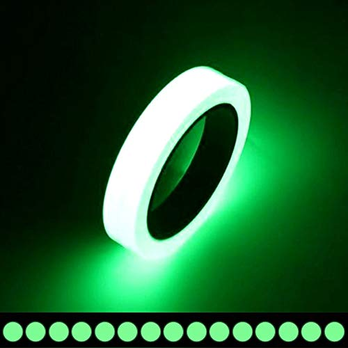 Glow Tape - Premium Quality Fluorescent Tape, 30 feet x 0.8 Inch, Extended Glow Time, Eco-Friendly Glow-in-the-dark Photoluminescent Tape, Waterproof, Removable - Best for Home, Office, Luminous Party