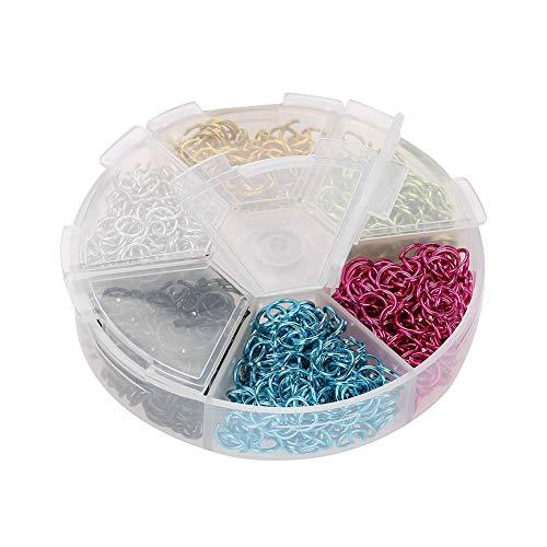 Sieradenreparatieset, gemengde aluminium sieraden accessoires kleurrijke buiging DIY inspiratie set kit voor oorbel halsketting armband DIY