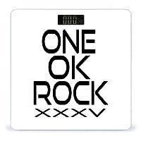 ルスメーター One Ok Rock XXXV ワンオクロック 体重計 電源自動ON/OFF 電子スケール バックライト付き 乗るだけ 高精度 デジタル ボディスケール 体重 軽い薄設計 薄型 かわいい 強化ガラス 電池式