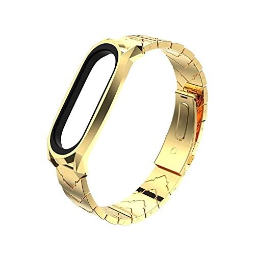 MI BAND 6 Correas Reemplazo de pulsera, MIBAND 5 Acero inoxidable Metal Correa de pulsera Accesorios para la banda MI 4/3 (Color : 18, Size : For Mi Band 4)