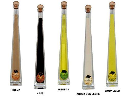 Lote de 10 Botellas de Licores Edu Villalucía (Surtidos). Detalles de Bodas y Eventos. 29 cm. - 10 cl