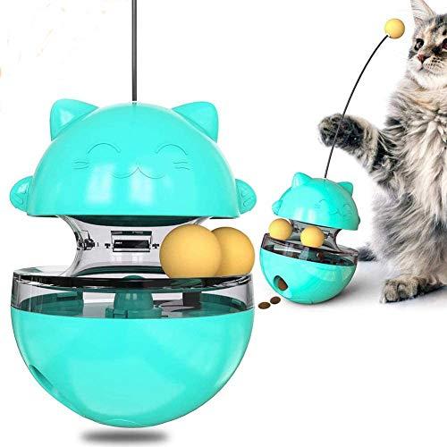 ZHIRCEKE Juguete de Pelota de Comida interactiva para Mascotas para Perros y Gatos, Vaso de Comida para Mascotas Bola de Juguete para Perros Cat Cat Formación de alimentación Lenta
