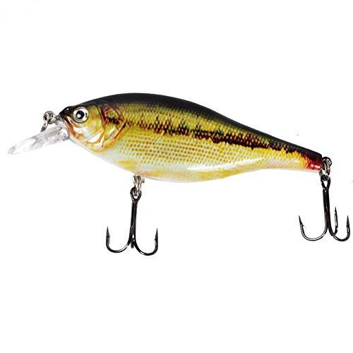 LiuliuBull L 95mm 12.5g Hard Wobbler Crankbait Fischereiköder 3D lebendige Augen scharfe Haken für Bass Pike Culter Topmouth im Ocean Lake River Teich (Color : CC10 02)