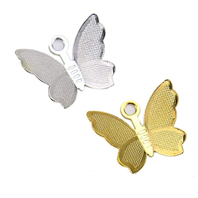 Monrocco 100Pcs Brass Mini Mixed Butterfly Pendants Charms Craft Supplies for DIY Jewelry Making Crafting Findings Accessory whaqjgms343565