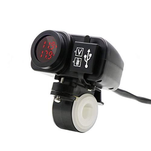 YGL Impermeable Motocicleta Cargador Doble USB 5V 3.1A Panta