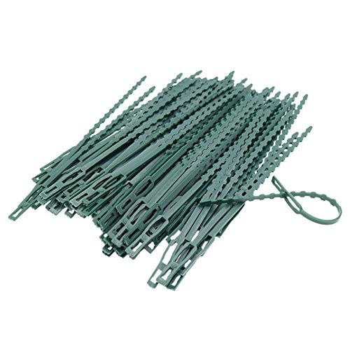 17,5 cm Pflanzenbinder Einstellbar 110 Stück, Pflanzen Anbinder Kunststoff Schnellbinder für Pflanzen Unterstützung