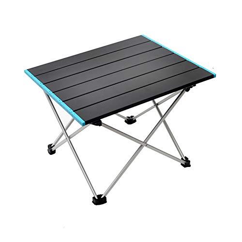 Crazyfly - Mesa de camping portátil, pequeña ultraligera, plegable, de aleación de aluminio con bolsa de transporte para picnic al aire libre
