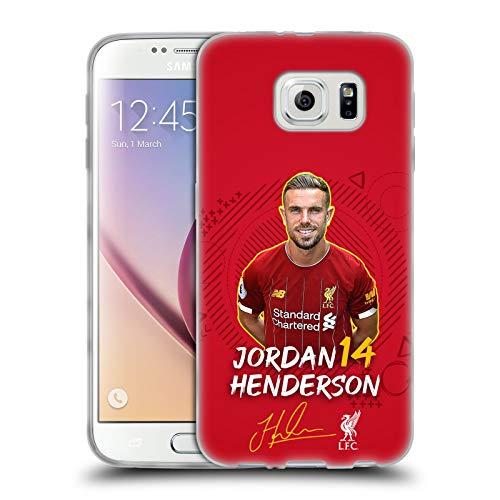 Ufficiale Liverpool Football Club Jordan Henderson 2019/20 Prima Squadra Gruppo 1 Cover in Morbido Gel Compatibile con Samsung Galaxy S6