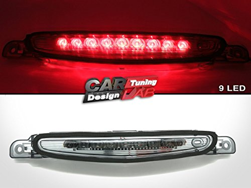 Troisième feu stop arrière fumé à LED pour Mazda 3 Sedan 4D 2010-2013.