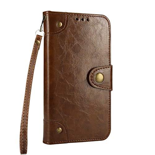Coque Galaxy S6, Bear Village® Flip Étui en cuir PU Rétro Cartes de Crédit Housse avec Fonction Stand et Fente Carte pour Samsung Galaxy S6 (#1 Marron)