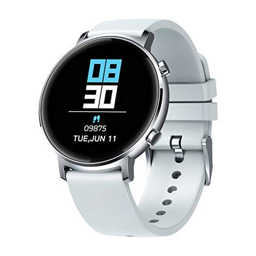 QAK Versión Global Original Reloj para Mujer Bluetooth 42Mm 5Atm Waterproof Smartwatch 12 Días Control De Música De Batería (para Android iOS),A