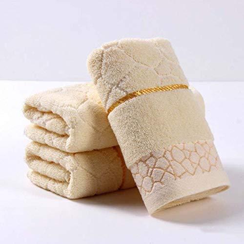 dfsgrfvf handdoeken, 3 stuks, 100% katoen, gezichtshanddoek, hoge kwaliteit, 34 x 75 cm, handdoek, verkrijgbaar in 6 kleuren, zachte absorberende geschenk, handdoek, gezicht, familie