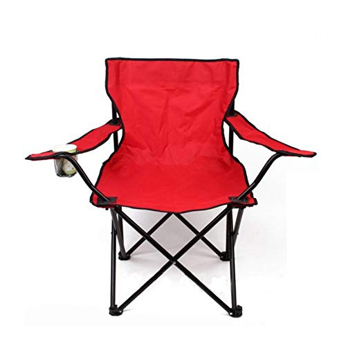 MapleMiss Silla Plegable Portable al Aire Libre con pasamanos al Aire Libre Silla Pieza/Silla Plegable/Silla de la Pesca Silla de Playa (Color : Red)