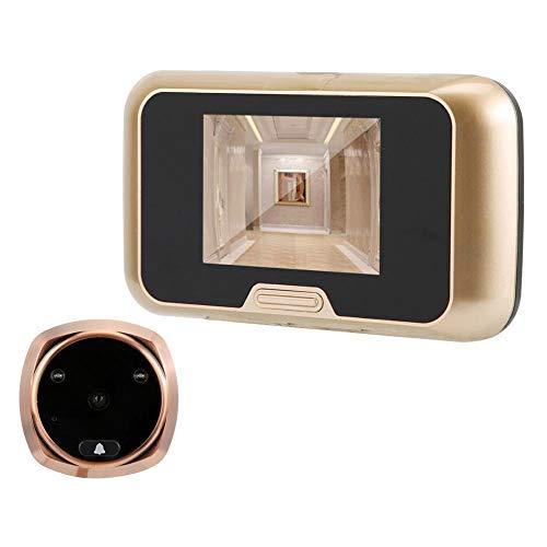 3.0 inch elektronische visuele deurbel met bewegingsdetectie, HD LCD-scherm deurbel, ondersteuning voor video-opname en foto's maken, infrarood nachtzicht deurbel, geschikt voor appartementen
