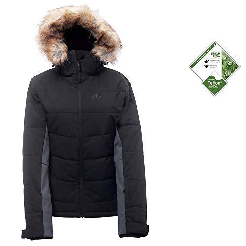 2117 of Sweden Damen ECO KALLAND Jacket Winterjacke Skijacke 4-Wege Stretch (44, schwarz)