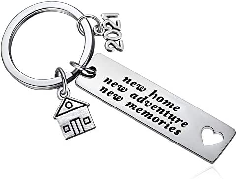 2021 New Home New Adventures New Memories Keychain Housewarming Gift for New Homeowners New product image